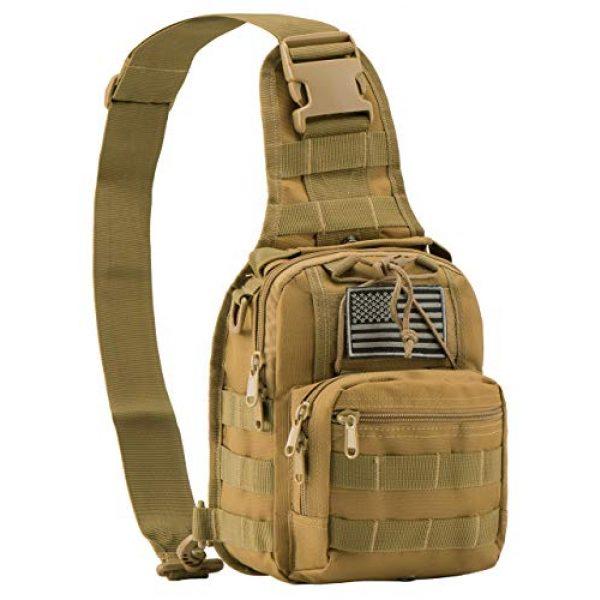 Luckin Packin Tactical Backpack 6 Luckin Packin Tactical Backpack,Military Backpack 45L with Tactical Sling Bag Khaki