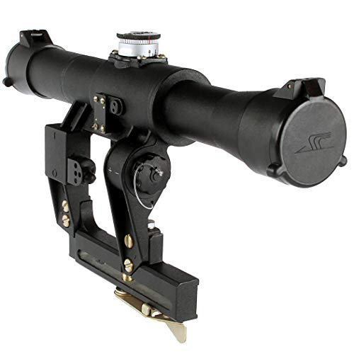 BelOMO Rifle Scope 1 BelOMO POSP 4x24 V (B). Optical Rifle Scope. Russian Side Mount. 400m Rangefinder. 1 MOA. Combloc