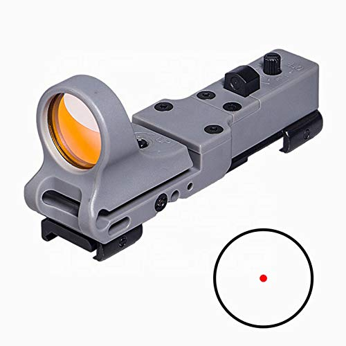UELEGANS Rifle Scope 2 UELEGANS Tactical Red Dot Sight Reflex Sight 9 Brightness Control (Red dot) Red Illumination Scope for Hunting, Gray