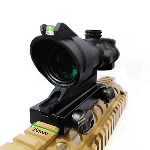 Haoyipu Rifle Scope 6 HYP 4x32 Scope Hunting Scopes Red or Green Chevron Glass Etched Reticle Real Fiber Optics Tactical Optical Sights Scope