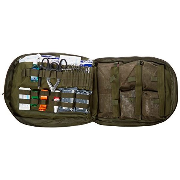 Stomp Medical Kit Tactical Backpack 3 Stomp Medical Kit Fully Stocked First Aid Backpack, OD Green