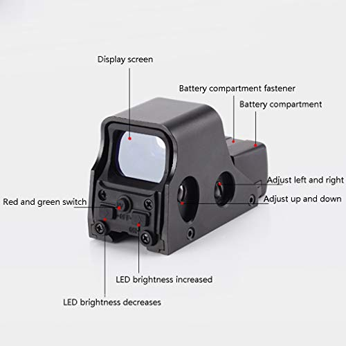 AJDGL Rifle Scope 3 AJDGL 1x22mm Tactical Reflex Mini Red Dot Sight- Optical Holographic Scope Adjustable Brightness for Shooting Hunting