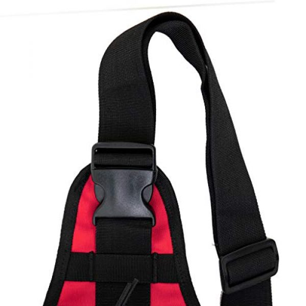 LINE2design Tactical Backpack 6 LINE2design First Aid Sling Backpack - EMS Equipment Emergency Medical Supplies Tactical Range Shoulder Molle Bag - Heavy Duty Sports Outdoor Rescue Pack - Perfect for Camping Hiking Trekking - Red