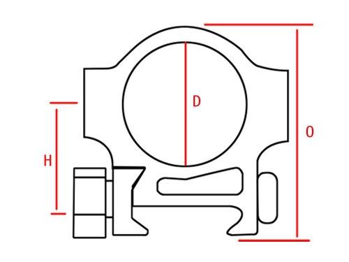 "TACBRO Rifle Scope 2 1"" Dovetail Base Low Heavy Duty HD Scope Ring"