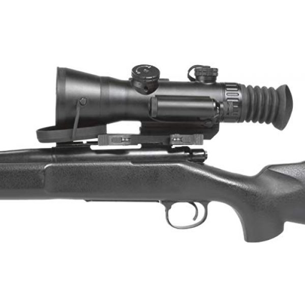 """PRG Defense Rifle Scope 4 PRG Defense 15WOL422103021 Model Wolverine 4 NL2 Gen 2+""""Level 2"""" Night Vision Rifle Scope with Sioux850 Long-Range Infrared Illuminator, 4X Magnification, 10m to Infinity Focus Range"""