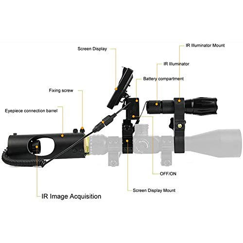 TTHU Rifle Scope 2 TTHU Rifle Scopes DIY Digital Night Vision Scope for Rifle Hunting with HD Camera and 5-Inch Portable Display Screen for Hunting Scopes