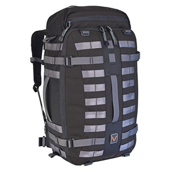 VITAL GEAR Tactical Backpack 1 VITAL GEAR Air Rover Modular Adventure Travel Backpack, Black, Medium/40mm