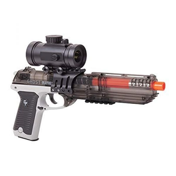 Game Face Airsoft Pistol 1 Game Face GFM39PGS Ghost Mayhem Spring-Powered, Single Shot Pistol with Red Dot Scope, Grey/Smoke
