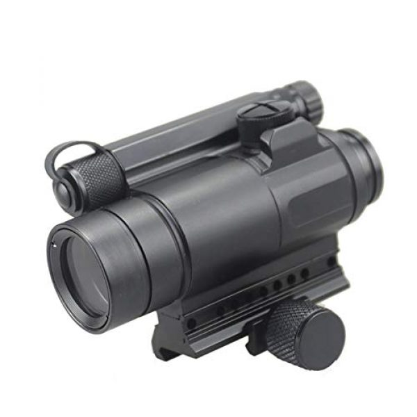 DJym Rifle Scope 2 DJym M4 Non-Magnification Red Film, Red Dot Sight, High Shockproof Waterproof Rifle Scope