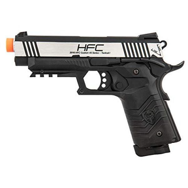 HFC Airsoft Pistol 1 HFC HG-171 Tactical 1911 CO2 Blowback Airsoft Pistol Black Silver