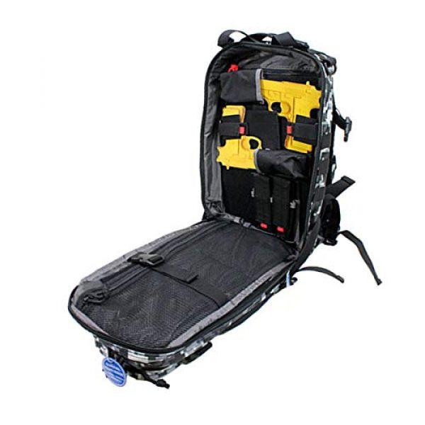 G.P.S. Tactical Backpack 3 G.P.S. Tactical Range Backpack, Gray Digital