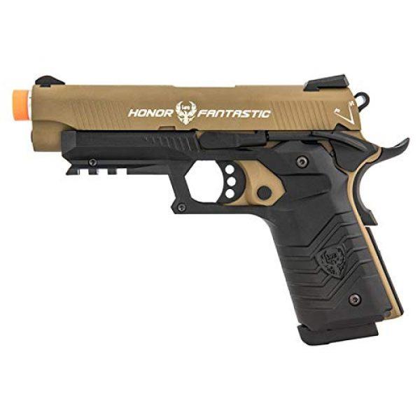 HFC Airsoft Pistol 1 HFC Honor Fantastic 1911 Gas Blowback Airsoft Pistol TAN Black