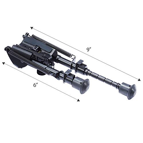 Pinty Rifle Scope 6 Pinty Rifle Scope 3-9x32 Rangefinder Illuminated Reflex Sight 4 Reticle Green Dot Laser Sight & 6 inch to 9 inch Aluminum Rifle Bipod Works with Picatinny MLOK KeyMod and QD Mounting
