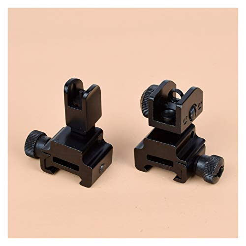 Without Rifle Scope 1 Toy Gun Sight Red dot Sight Magnification 1 Pair of BUIS Front and Rear Sights can be Flipped Quick-Change Iron Sights, Shotgun Accessories (Color : Black)