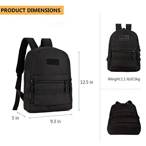 ArcEnCiel Tactical Backpack 3 ArcEnCiel Kid's Tactical Backpack with Patch