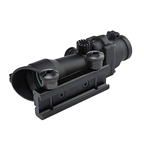 DJym Rifle Scope 2 DJym Wire Differentiation HD No Magnification Blue Film Sight, Inner Red Dot Sightproof