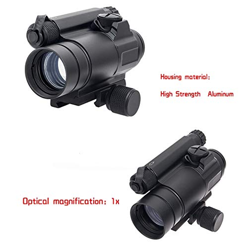 Fashion Sport Rifle Scope 4 Fashion Sport Tactical M4 1x32 Sight red/Green dot Sight Scope 2 MOA for Rifle air Guns Shooting Hunting with Raise Mount Base