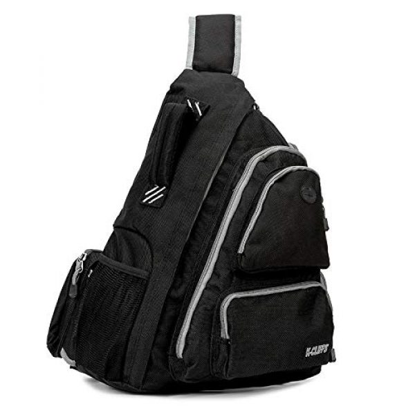 K-Cliffs Tactical Backpack 2 K-Cliffs Heavy Duty Sling Backpack Water-Resistant Laptop Bookbag Body Bag Bright Color Safety Reflective Stipe