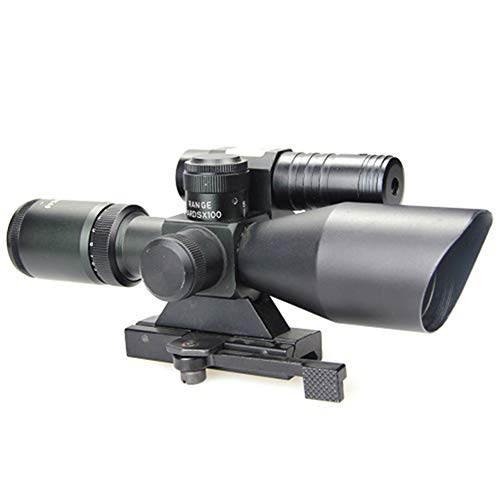 DJym Rifle Scope 2 DJym 2.5-10X40B/G Sight, Rifle Scope 5 Gear Red and Green Waterproof, Shockproof and Anti-Fog