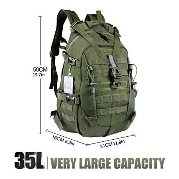 LHI Tactical Backpack 2 LHI Military Tactical Backpack for Men and Women 45L Army 3 Days Assault Pack Bag Large Rucksack with Molle System