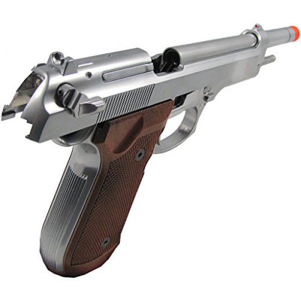 WE Airsoft Pistol 4 WE m92 long-a gas/co2 blowback full metal - silver(Airsoft Gun)