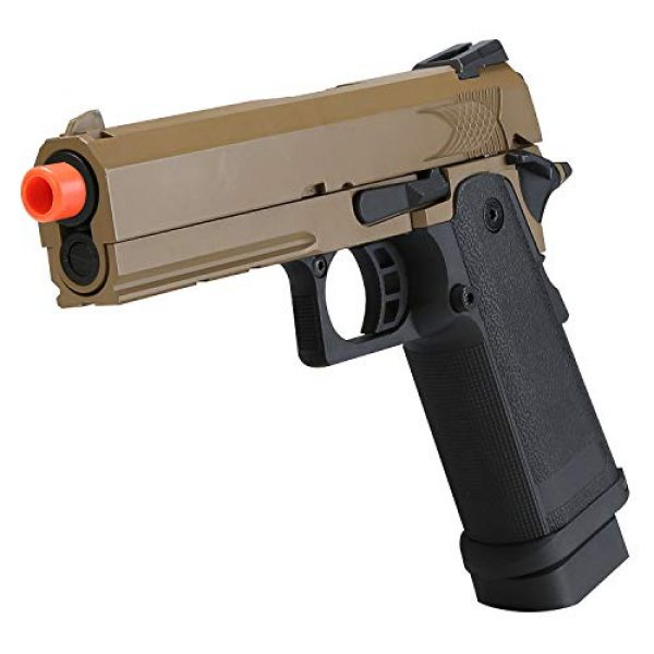BULLDOG AIRSOFT Airsoft Pistol 2 Airsoft HI-CAPA 4.3 Desert Green Gas Pistol with Free Speed Loader BBS and Gun Case [Airsoft Blowback]
