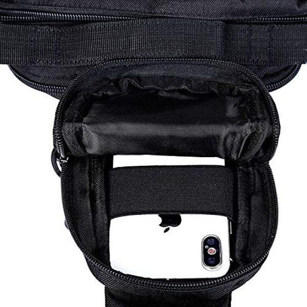 G4Free Tactical Backpack 5 G4Free EDC Bag Tactical Sling Bag Backpack Fishing Tackle Molle Chest Shoulder Assault Pack Rectangular Outdoor Daypack