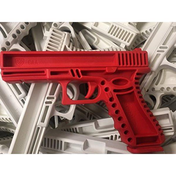 GARRET MACHINE Rubber Training Pistol Blue Gun 4 GARRET MACHINE Plastic Inert Training Pistol Compatible with Glock (White, 19)