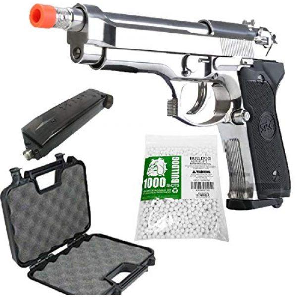 BULLDOG AIRSOFT Airsoft Pistol 1 SR92 Co2 Blowback Silver Airsoft Pistol [Airsoft Blowback]