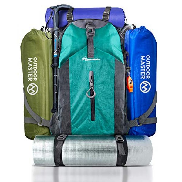 OutdoorMaster Tactical Backpack 3 OutdoorMaster Hiking Backpack 45L - Travel Carry-On Backpack w/Waterproof Cover