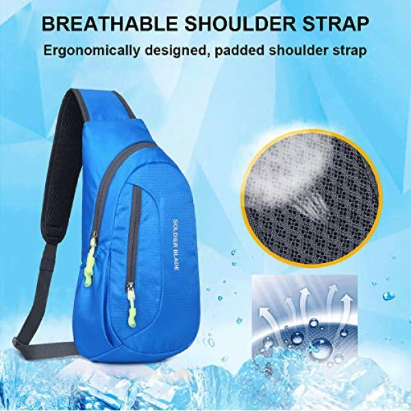 Peicees Tactical Backpack 5 Peicees Sling Backpack Shoulder Chest Crossbody Bag Purse Lightweight Waterproof Daypack for Men Women