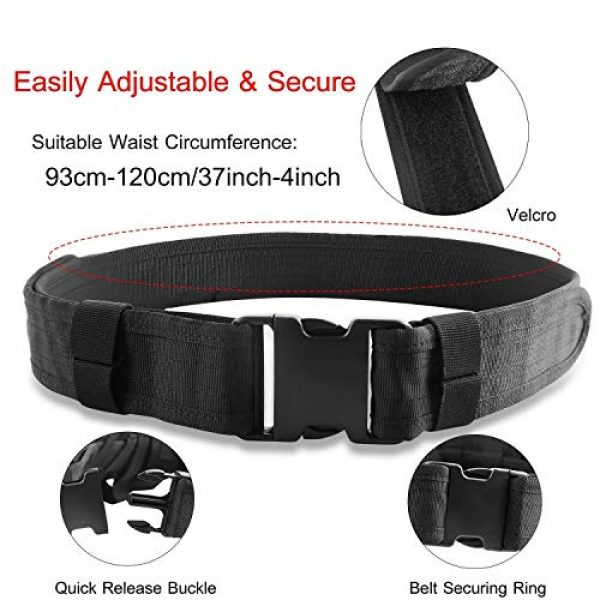 adit_to Tactical Pouch 5 adit_to 1 Pcs Police Security Guard Modular Enforcement Equipment Duty Belt Tactical 800 Nylon