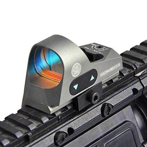 UELEGANS Rifle Scope 4 UELEGANS Red Dot Sight 9 BrightnessReflex Sight Red Dot Scope Sights for 20mm Mount for Outdoor Hunting