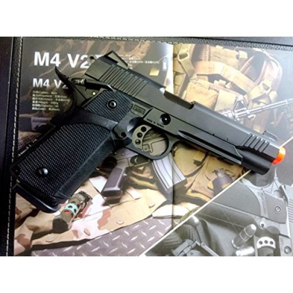 KJW Airsoft Pistol 4 gbb-614 - KJW full metal semi auto gas blowback pistol with free target trip tent and safety shooting glasses(Airsoft Gun)