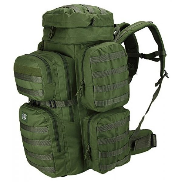 NPUSA Tactical Backpack 7 Mens 26 Inch Large Military Tactical Gear Molle Hydration Ready Hiking Backpack Bag + Sunglasses