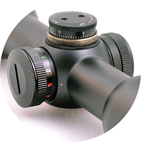 Hammers Rifle Scope 4 Hammers Short Compact .177 .22 Airgun PCP Air Rifle Scope 6X32AO w/Illuminated MilDot Reticle Parallax Adjustable Objective Lens Stop Pin Rings