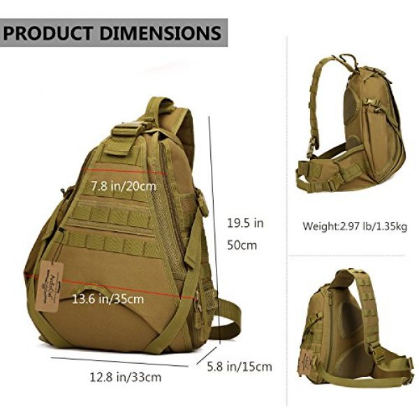 ArcEnCiel Tactical Backpack 3 ArcEnCiel Tactical Sling Pack Military Molle Chest Crossbody Shoulder Bags Motorcycle Bicycle Assault Range Diaper Backpack