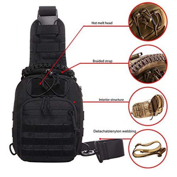 ANTARCTICA Tactical Backpack 4 ANTARCTICA Tactical Sling Bag Pack Military Rover Shoulder Bag Molle Assault Range Bag Backpack 1050D