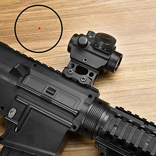 TTHU Rifle Scope 5 TTHU Mini Rifle Scopes Micro Red Dot Sight 1X25mm Reflex Sight Waterproof & Shockproof & Fog-Proof Red Dot Scope with 1 Inch Riser Mount