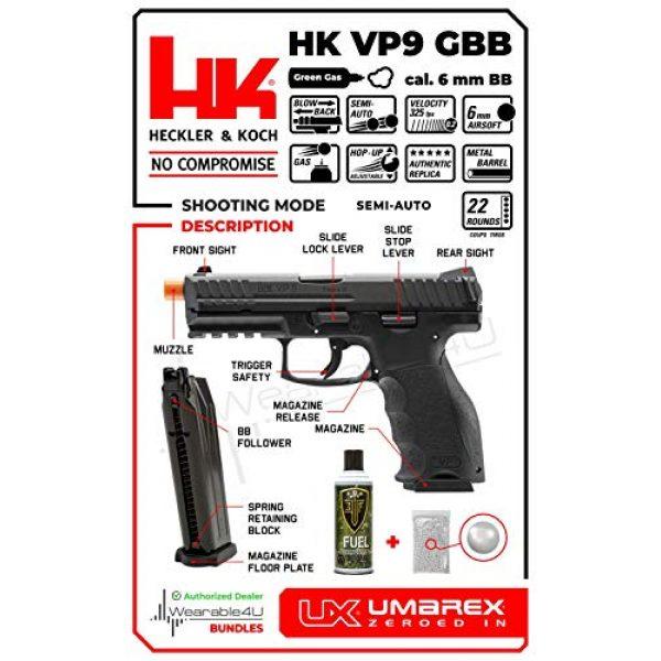 Wearable4U Airsoft Pistol 4 Wearable4U Umarex H&K VP9 GBB(VFC) Airsoft Pistol GBB Air Soft Gun Bundle