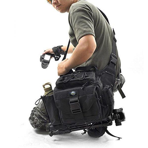 SHANGRI-LA Tactical Backpack 7 SHANGRI-LA Multi-functional Tactical Messenger Bag Camera Molle Assault Gear Sling Pack