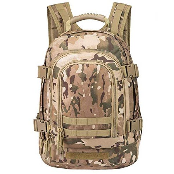 Scorpion Tactics Tactical Backpack 2 Scorpion Tactics Expandable Outdoor Large Backpack Tactical Backpack Army Assault Rucksack Pack Bug Out Bag TAN ST-LAB202006