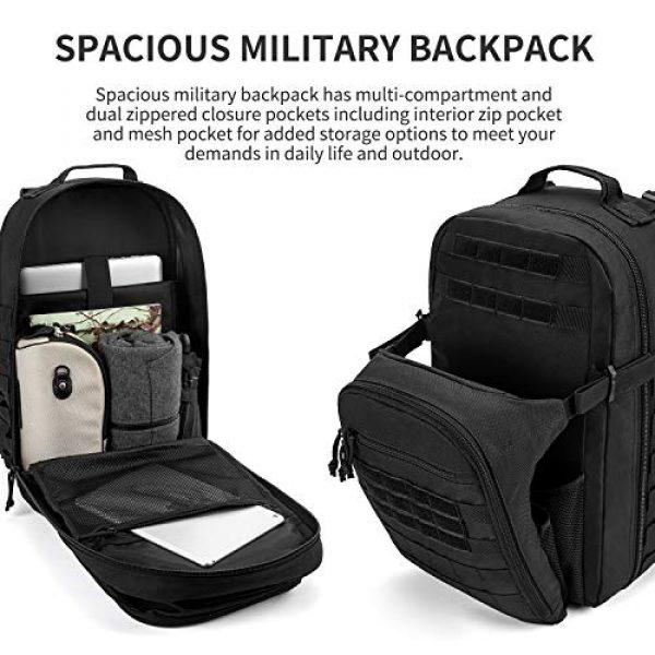 Gelindo Tactical Backpack 2 Gelindo Military Tactical Backpack Large 3 Day Assault Pack Molle Amry Bag Bug-out Rucksack Backpacks Survival Functional Daypack for Outdoor Hiking Camping Hunting Trekking Schooling for Men 42L