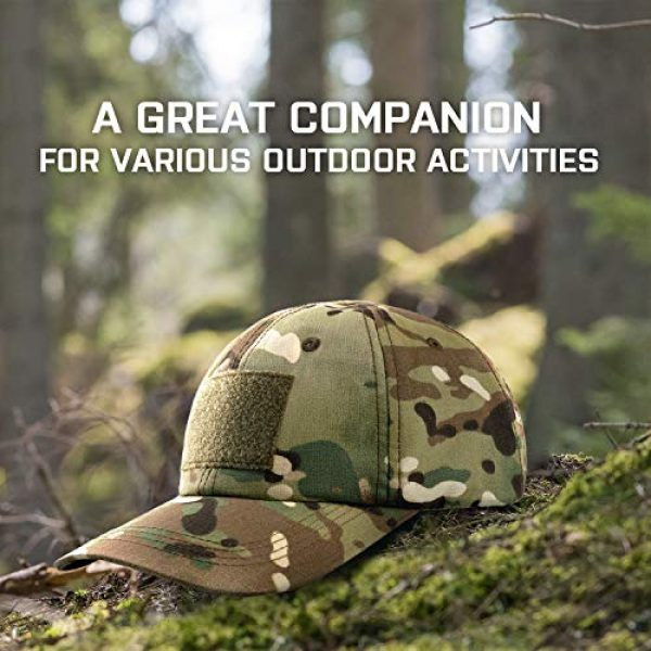 GLORYFIRE Tactical Hat 6 Tactical Hat Military Hat Camo Hat with 6 PCS Tactical Patches Adjustable Breathable Durable Cotton Camouflage Baseball Cap for Hiking Shooting Hunting and Other Outdoor Activities Suitable for Men