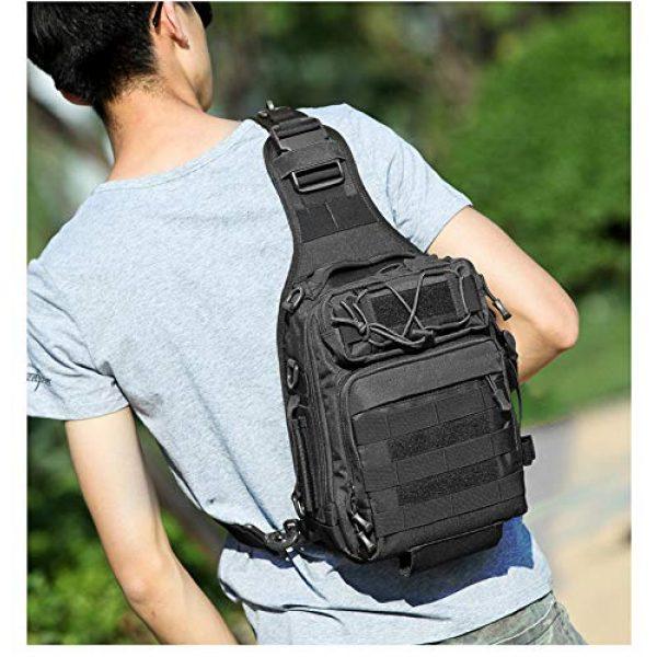 Ornate Tactical Backpack 3 Ornate Tactical Sling Bag, 600D Bug Out Molle Backpack
