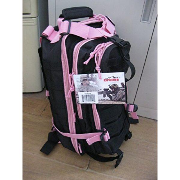Explorer Tactical Backpack 3 Explorer Tactical 72 Hours Combat Rucksack 17 Inch Backpack-Black with Pick Stripes