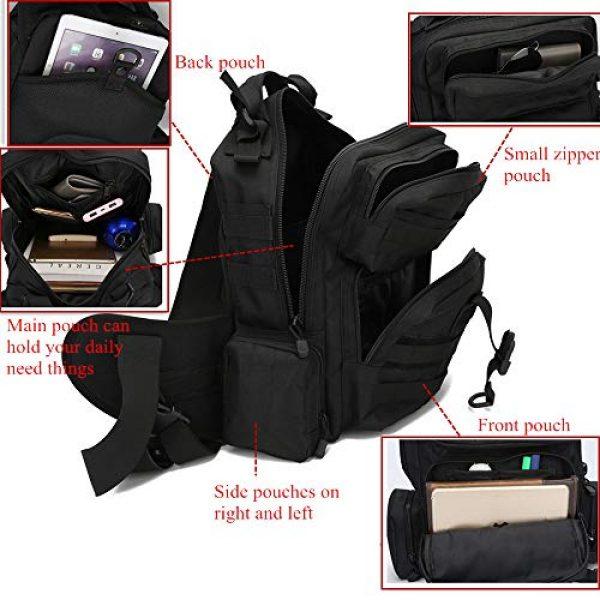 ABENAKI Tactical Backpack 5 ABENAKI Tactical Sling Bag Pack Military Sling Backpack Assault Range Bag