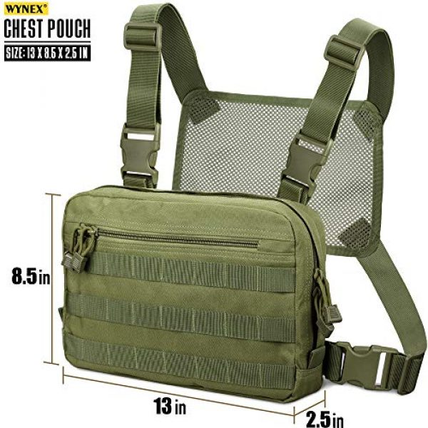 WYNEX Tactical Backpack 2 WYNEX Tactical Chest Rig Bag, Recon Kit Bags Combat EDC Front Pouch for Wargame
