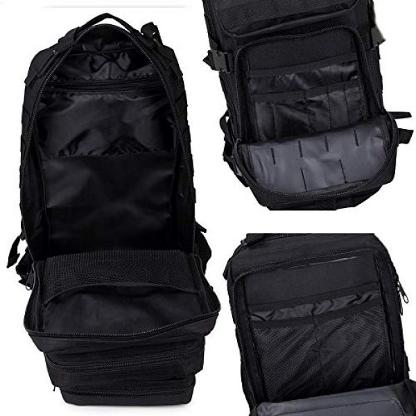 Cadet Gear Tactical Backpack 4 Tactical Assault Pack, Black Military Backpack, Army Survival Molle 35L, 40L