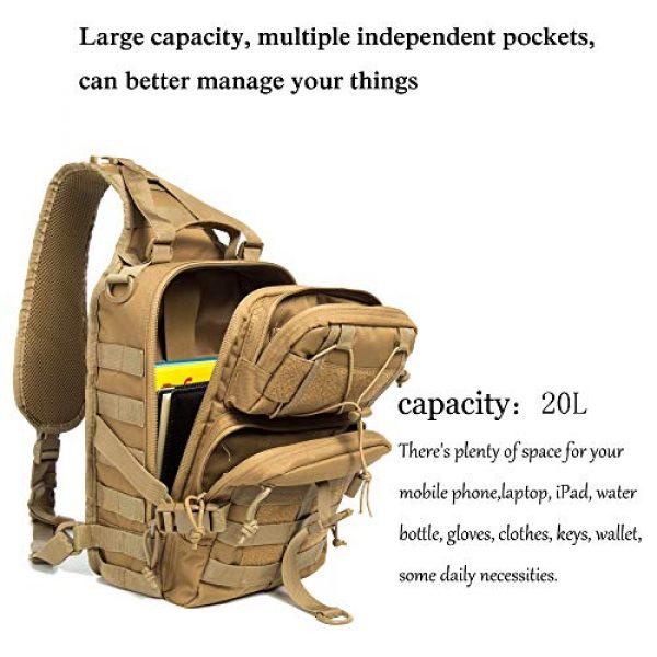 SHELCUP Tactical Backpack 3 SHELCUP EDC Sling Bag Pack, Rover Shoulder Molle Backpack, with USA Flag Patch